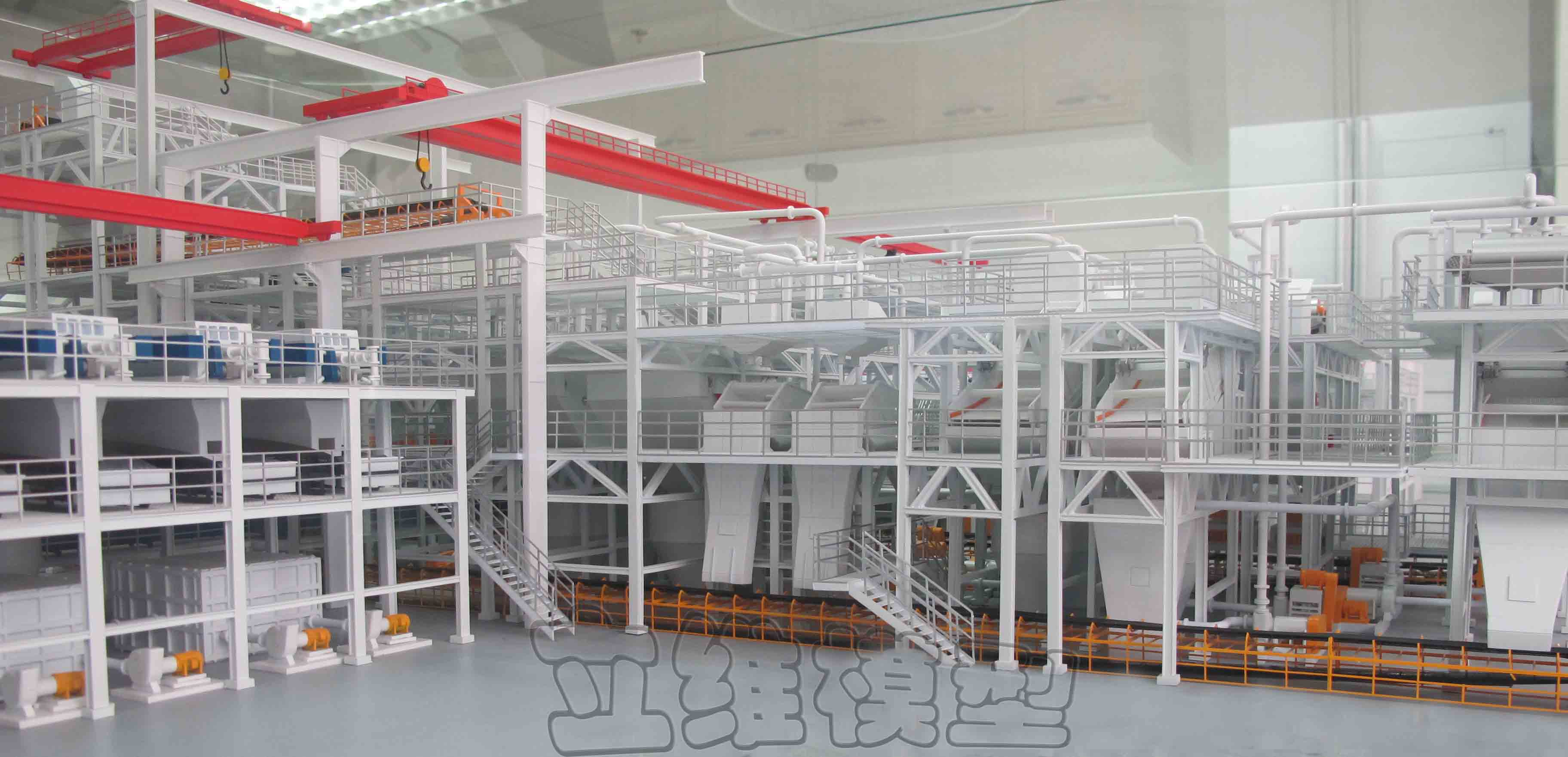 北京立维远景模型-选煤厂主洗车间 1:40 模型